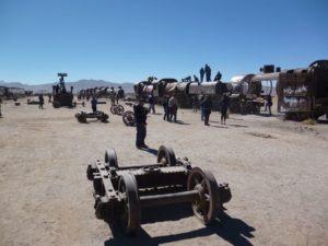 Treinen kerkhof Salar de Uyuni tour Bolivia