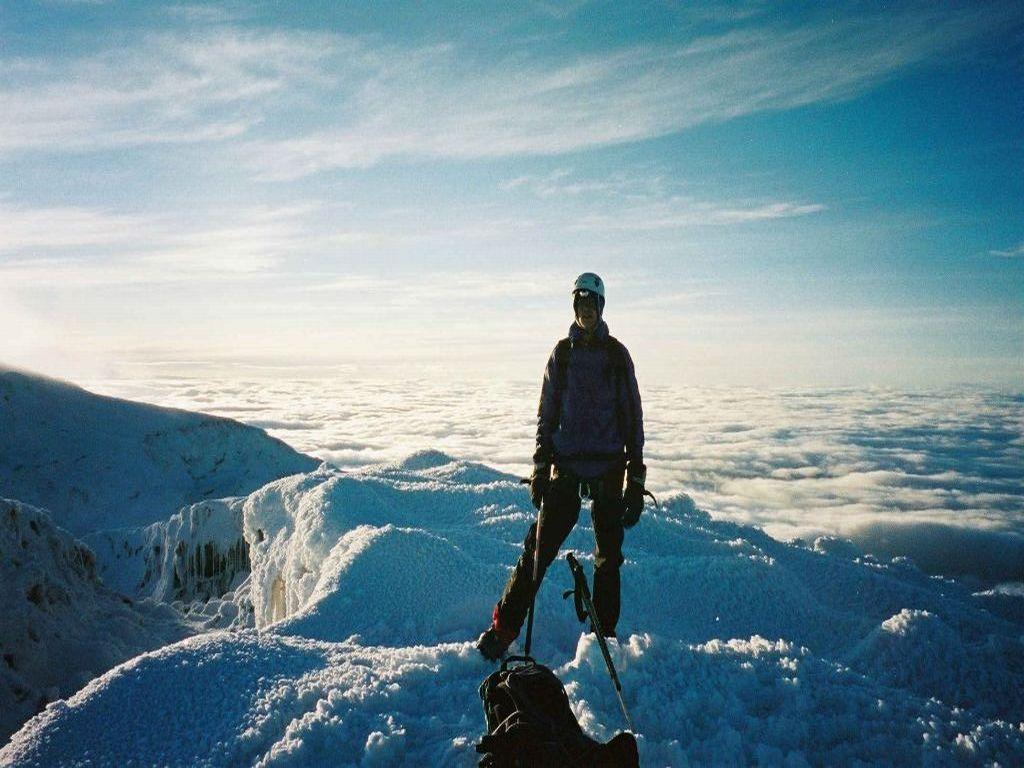 Martijn bergbeklimmen Chimborazo Vulkaan Ecuador