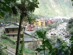 Aguas Calientes view