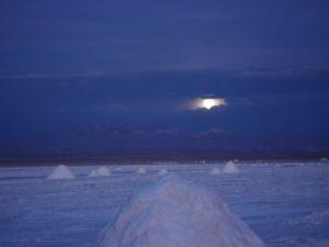 Salar Tour Bolivia zonsondergan
