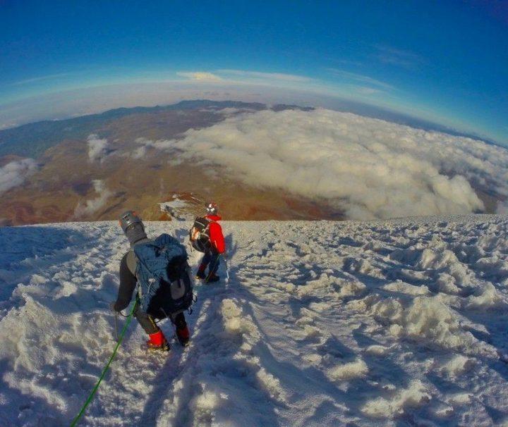 Chimborazo Vulkaan Ecuador klimmen