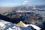 Top van Huayna Potosi Berg