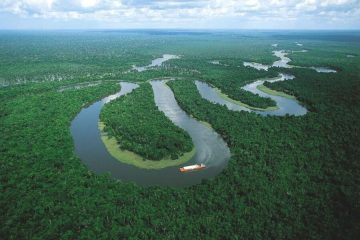 Iquitos, river in the Amazon Peru