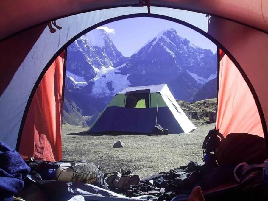 Kamperen Huayhuas Loop Peru trek