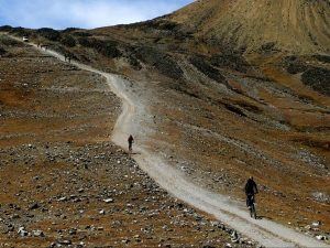 Mountain biking in Andes