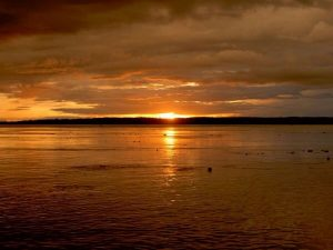 Sunset in Amazon Iquitos