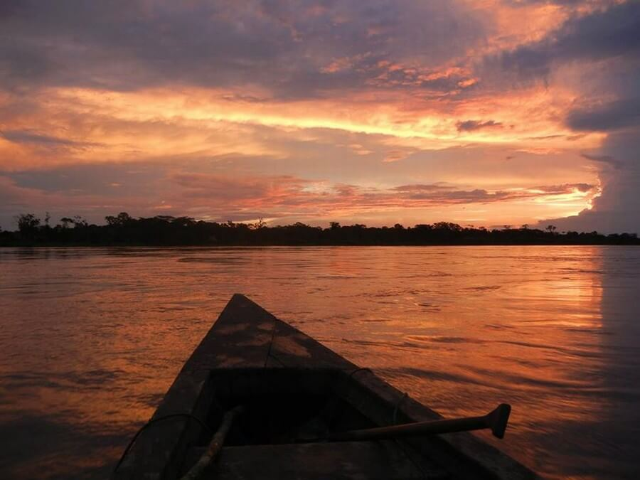 Sunset in the Amazon!