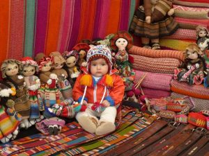 Little boy on tourist market