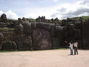 Huge Inca walls at Sacsayhuaman