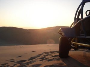 Huacachina dunes sunset buggy