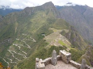 Condor view over Machu Picchu