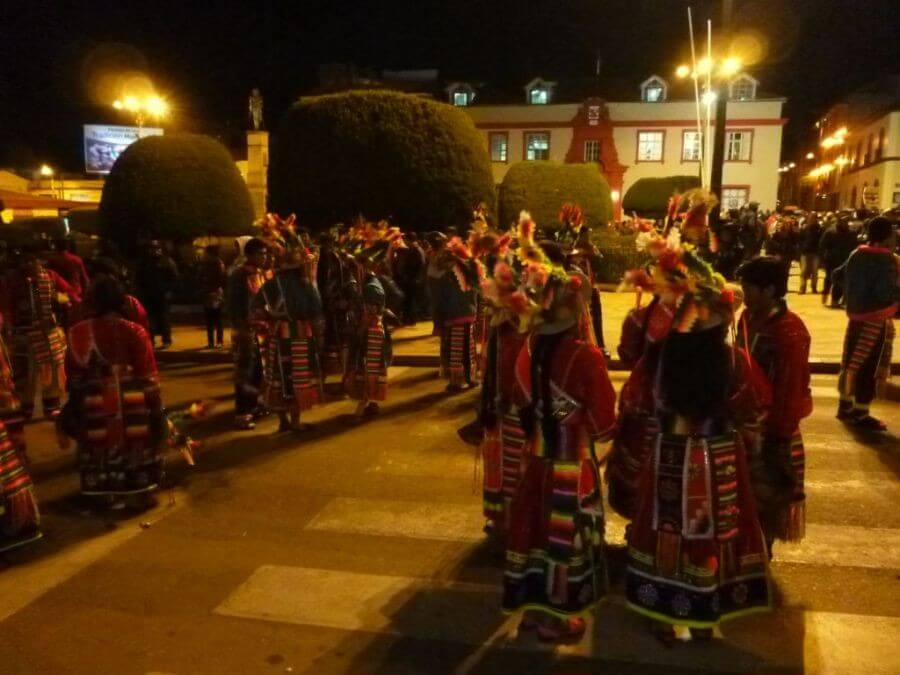 Traditional dancing in Puno