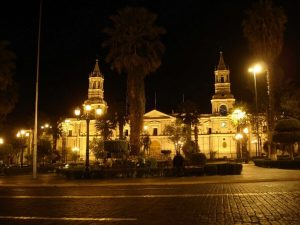 Plaza de Armas Arequipa night tour