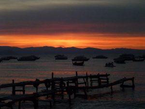 Sunset Copacabana Titicaca Bolivia