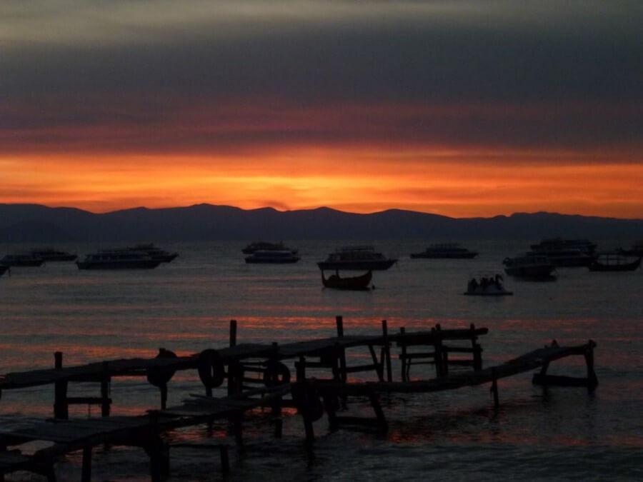 Sunset at Copacabana