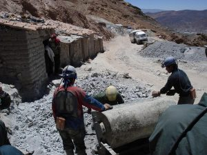 Silver mine tour in Bolivia
