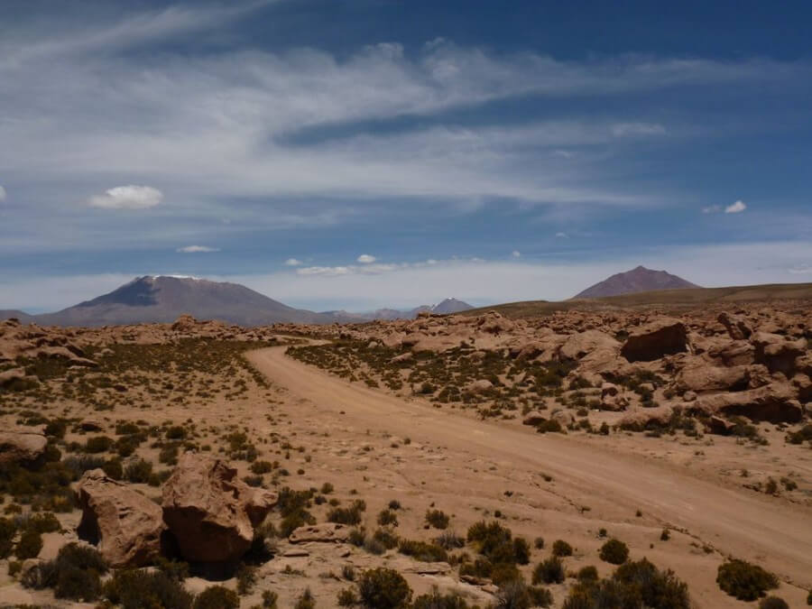 Ruig landschap Bolivia maatreizen