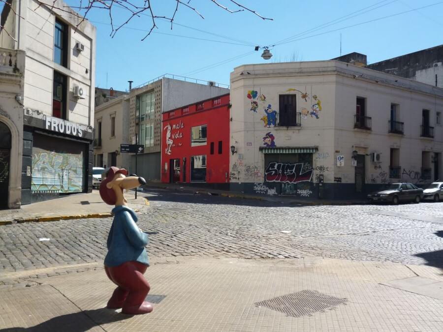 Street art in Telma district