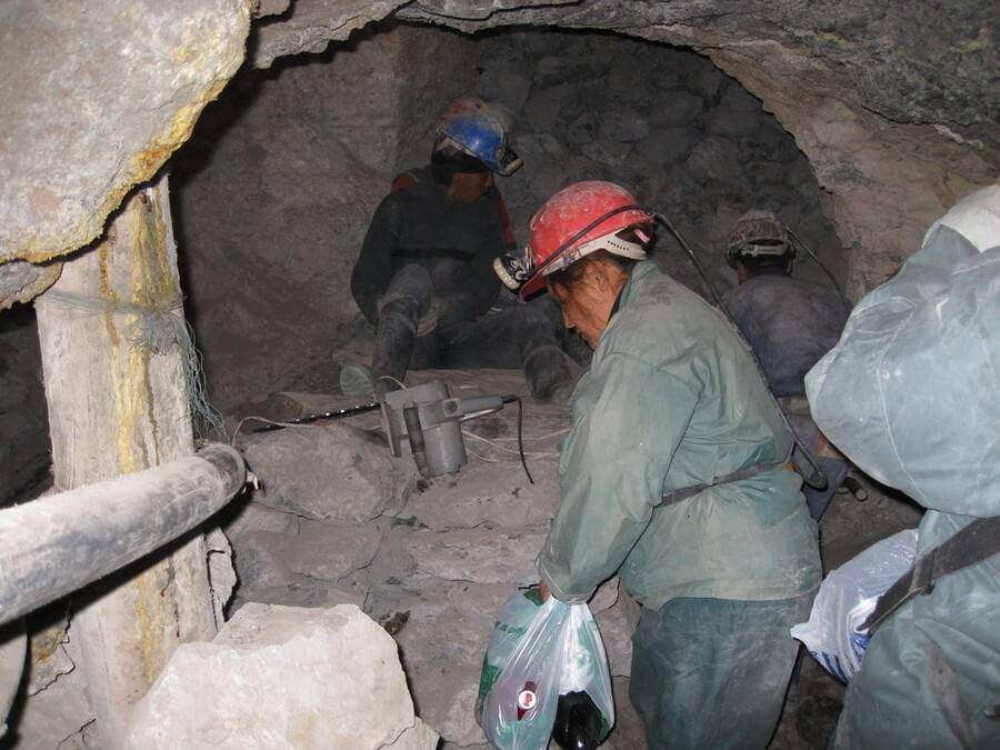 Mijnwerkers in Cerro Rico