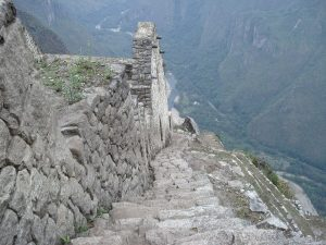 Stairs on top of Huayna Picchu