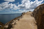 Hiking trail on Isla del Sol