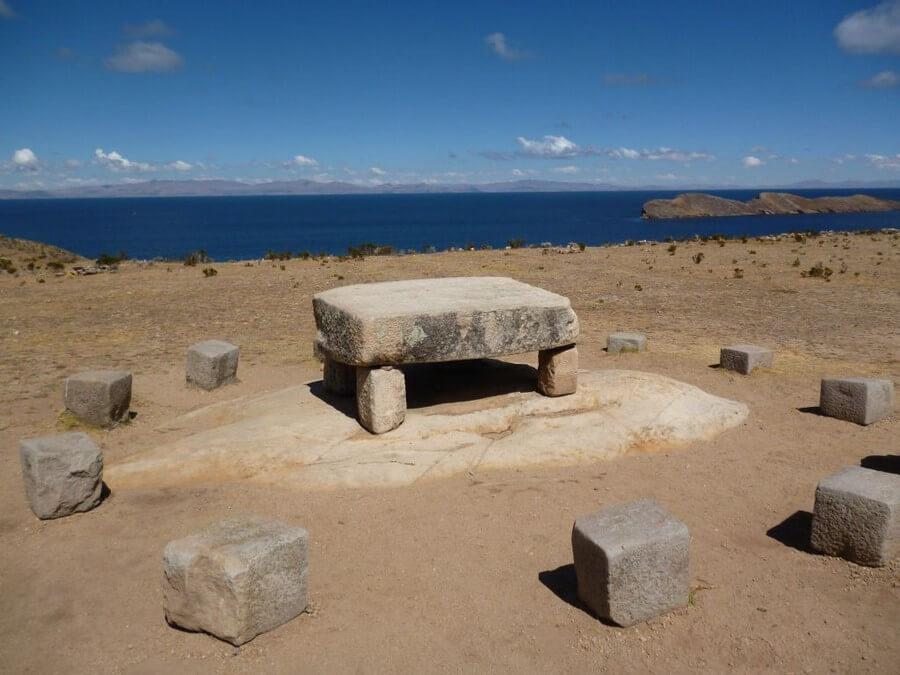 Inca table on Isla del Sol