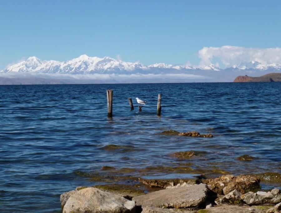 View of Cordillera Real from Isla del Sol