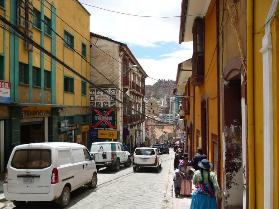 Touristic Calle Sagarnaga in La Paz