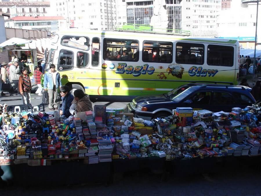 Local market in La Paz