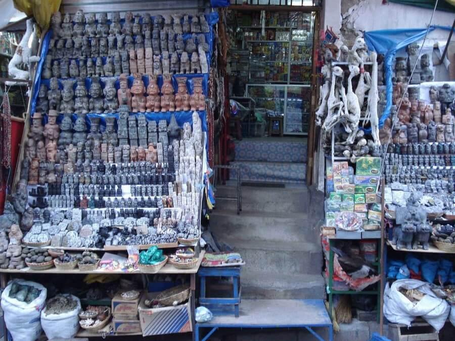 Whitches Market in La Paz