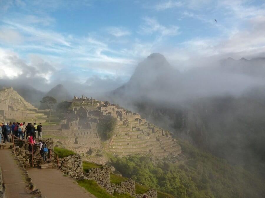 Misty Machu Picchu view