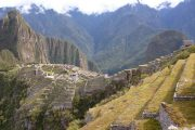 Amazing view over Machu Picchu