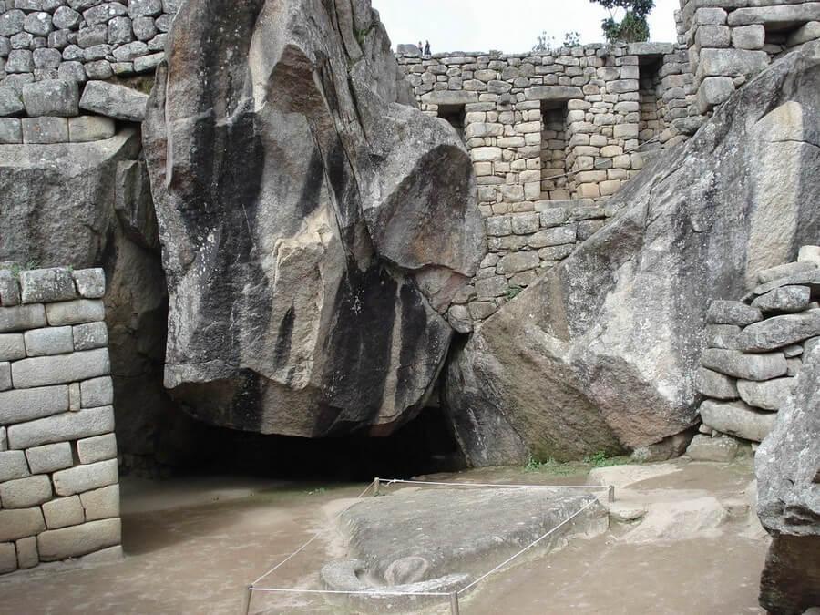 Condor temple at Machu Picchu
