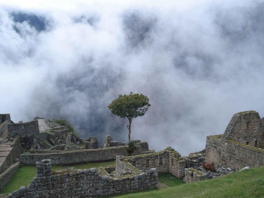 Cloudy at Machu Picchu