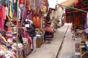 Tourist market of Pisac