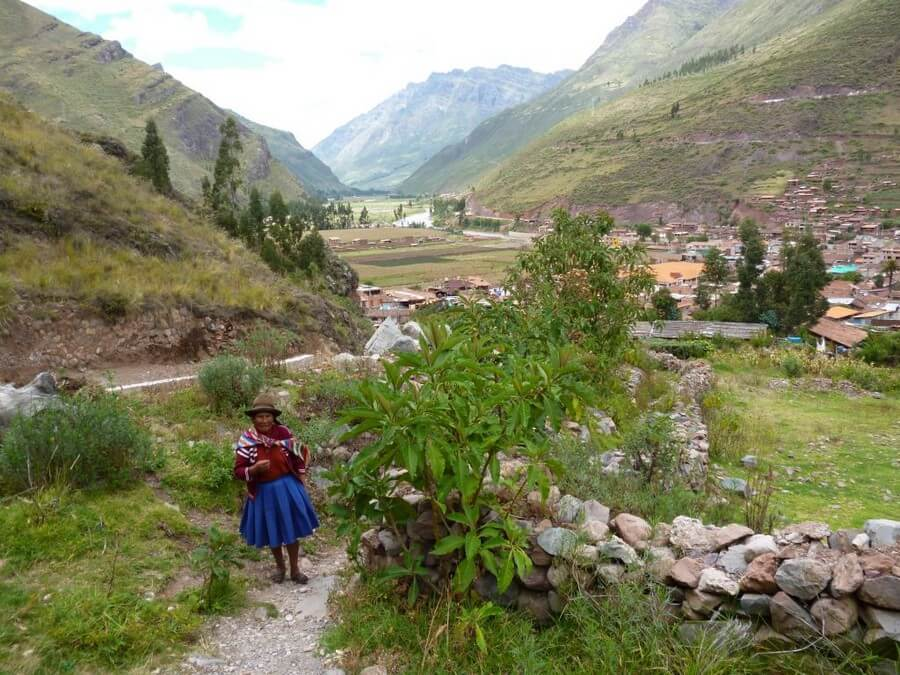 Local woman in valley