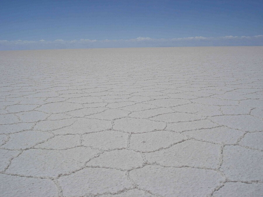 uitgestrekte zoutvlakte in Bolivia