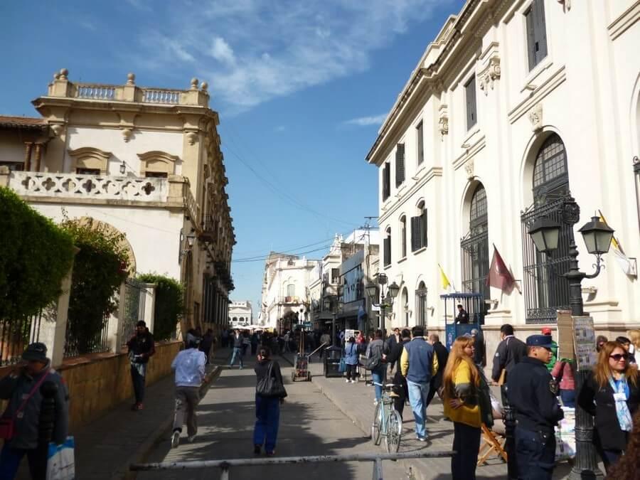Shopping street in Salta