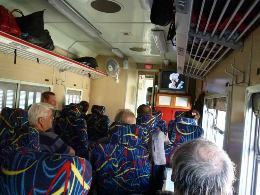 Inside a train to Uyuni, Bolivia