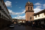 Colonial houses and church in Cusco