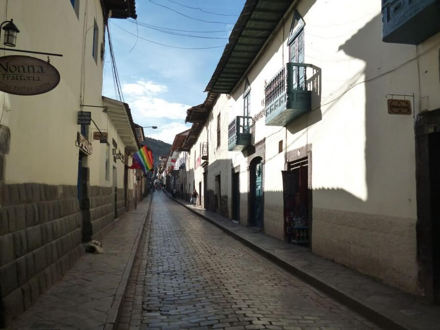 Small colonial streets in Cusco