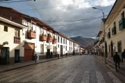 Colonial street in Cusco