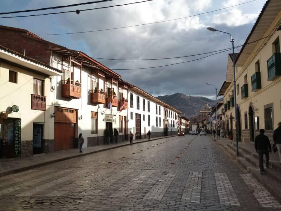 Colonial street in Cusco