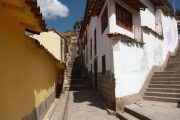 Steep streets in Cusco