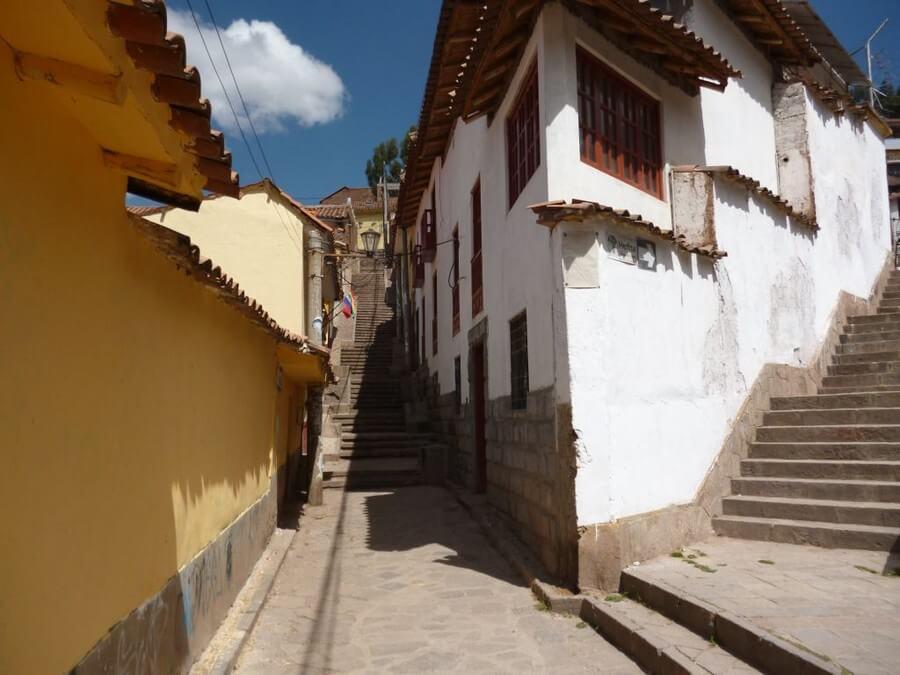 Steep streets in Cusco