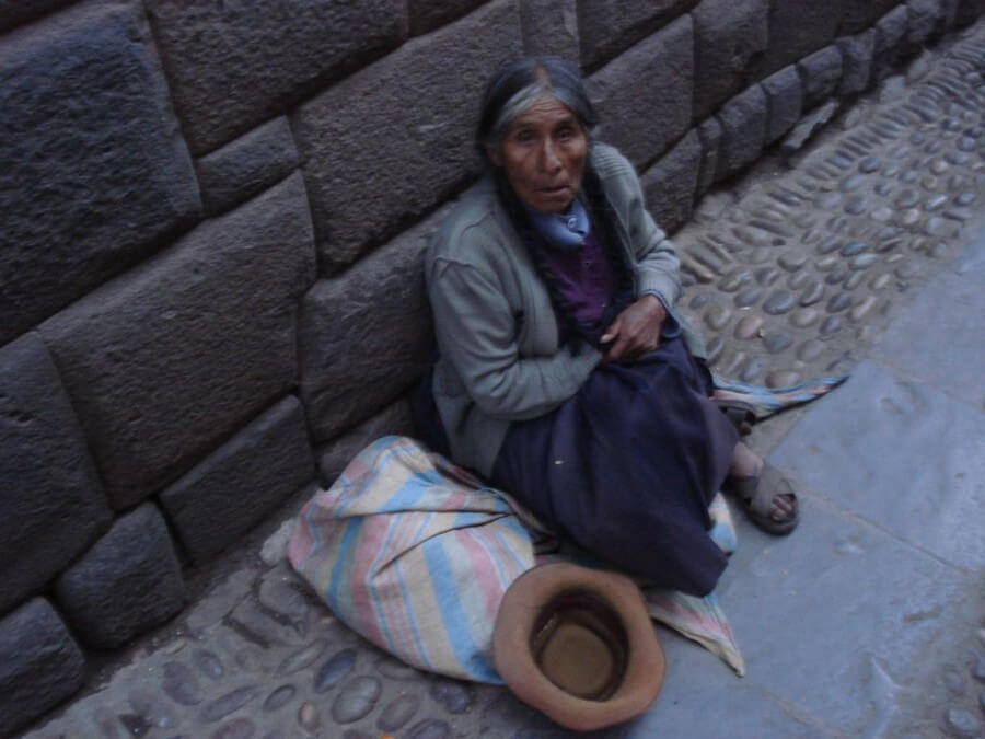 Old woman in the street