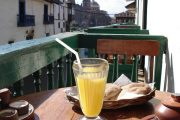 Breakfast with fiew in Cusco