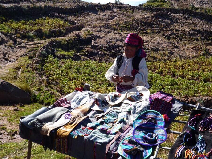 Breiende man Taquile cultuur