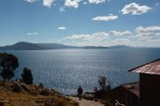 View from Taquile over Titicaca Lake