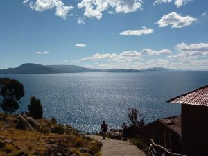 View from Taquile Island over Titicaca Lake